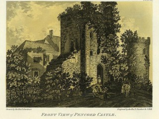 Front view of Pencoed Castle 1793