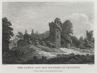 The Castle and old Mansion of Pencoed 1800